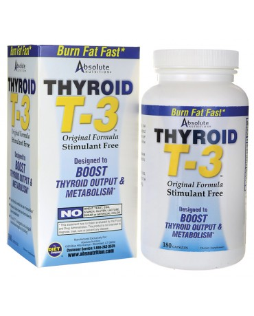 Absolute Nutrition - Thyroid T3 - 180caps