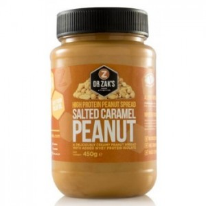 Dr Zak`s - High Protein Peanut spread 450g Salted Caramell