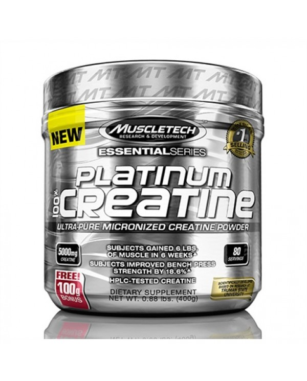 MuscleTech - 100% Platinum Creatine 400g