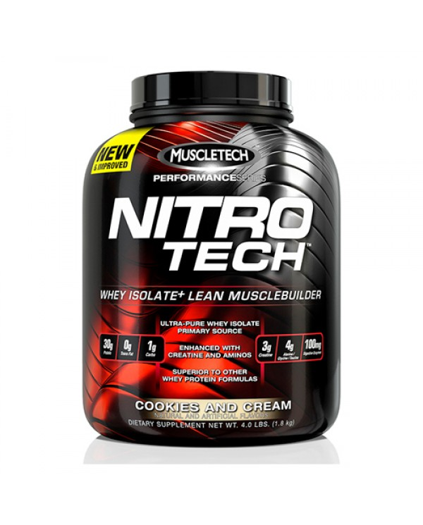 MuscleTech - Nitro Tech Performance Series 4lb + Free Shaker