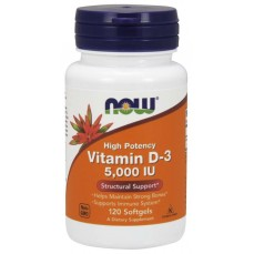 Now Foods - Vitamin D3 - 5000IU - 120softgels