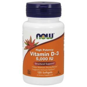Now Foods - Vitamin D3 - 5000IU - 120softgels