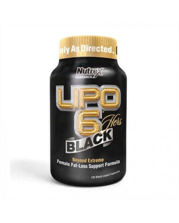 Nutrex - Lipo 6 BLACK HERS - 120caps