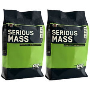 Optimum Nutrition - Serious Mass - 5455g (12lb) * 2bags + free shaker!