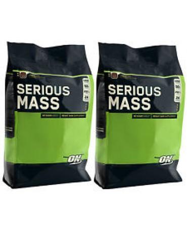 Optimum Nutrition - Serious Mass - 5455g (12lb) * 2bags + free shaker!