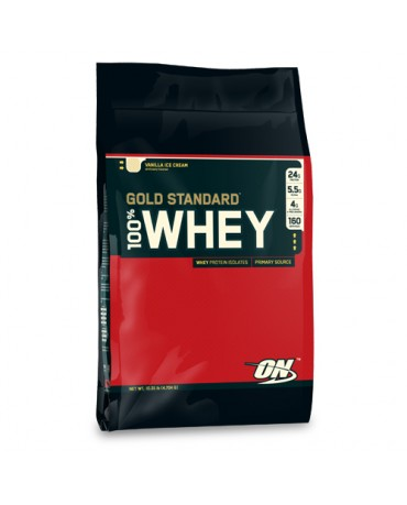 Optimum Nutrition - 100% Whey Gold Standard 10lb bag  + FREE Sample!