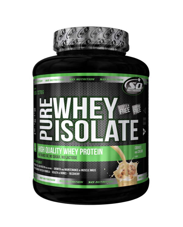 SO NUTRITION - Pure Whey Isolate 5lb/2270g