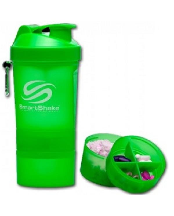 SmartShake - 550ml + 2 added compartments - Neon Green