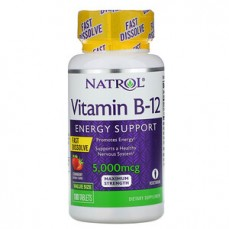Natrol - Vitamin B-12  Fast Dissolve Strawberry 5,000 mcg, 100 Tablets