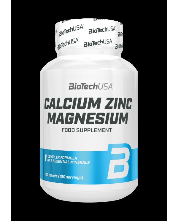BioTech USA - Calcium-Zinc-Magnesium 100tabs