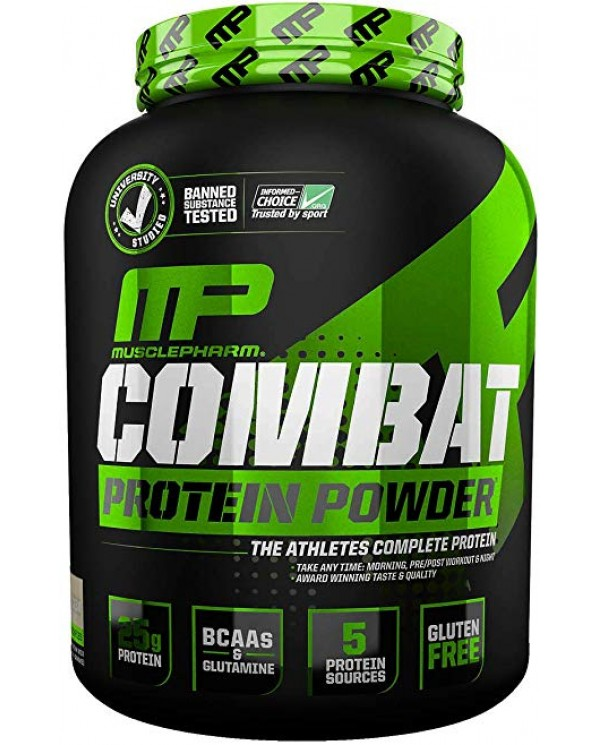 MusclePharm - Combat Powder Time Release Protein 4lb + Free Shaker!