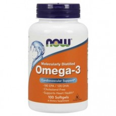 Now Foods - Molecularly Distilled Omega 3 - 1000mg - 100softgels