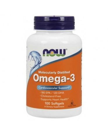 Now Foods - Molecularly Distilled Omega 3 - 1000mg - 100softgels
