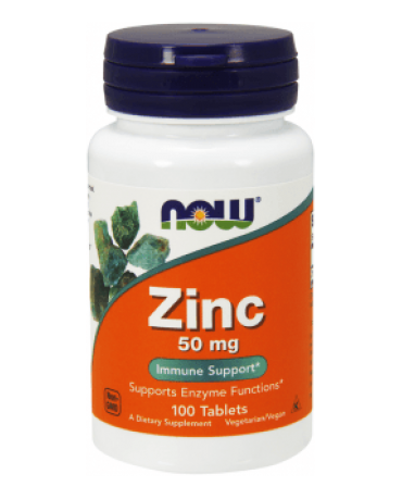 Now Foods - Zinc 50mg - 100tablets