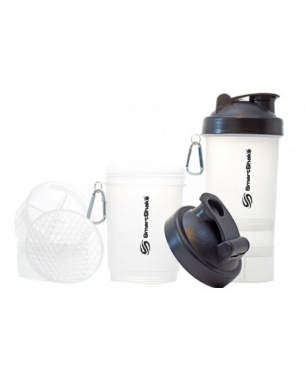 SmartShake - 550ml + 2 added compartments - CLEAR