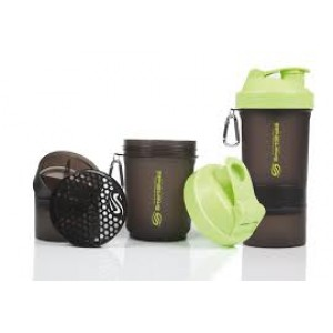SmartShake - 550ml + 2 added compartments - V2 Green Edition