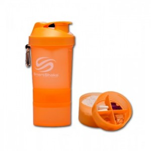SmartShake - 550ml + 2 added compartments - NEON ORANGE