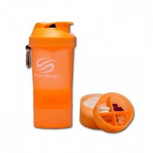 SmartShake - 550ml + 2 added compartments - NEON ORANGE