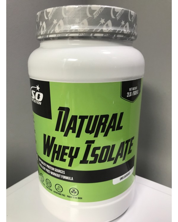 So Nutrition - Natural Whey Isolate (UNFLAVOURED)908g - 30 servings