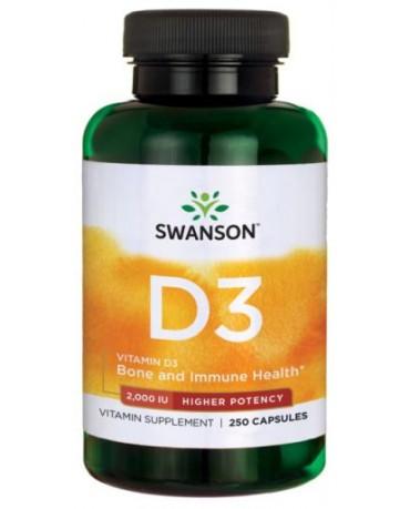 Swanson - Vitamin D3 higher potency 2000IU * 250caps
